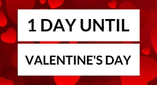 Only 1 days left until Valentine's Day!