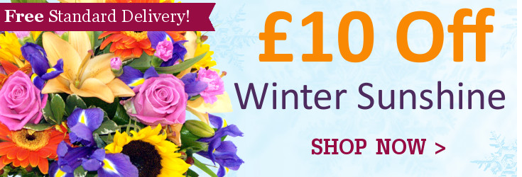 Save £15 on the Clare Florist Winter Sunshine bouquet this Christmas