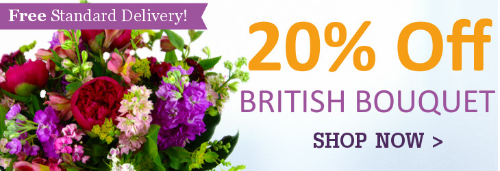 The British Bouquet now with 20% Off