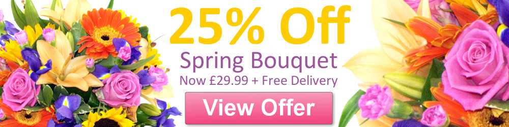 The Burst of Spring Bouquet; £29.99 special offer flower delivery by Clare Florist