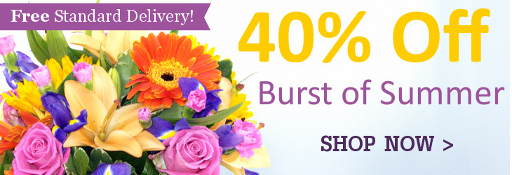 40% Off our Burst of Summer Bouquet