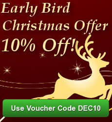 Christmas Flower selection with 10% off using voucher code DEC10