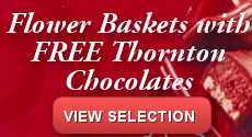 Flower Baskets with Free Chocolates