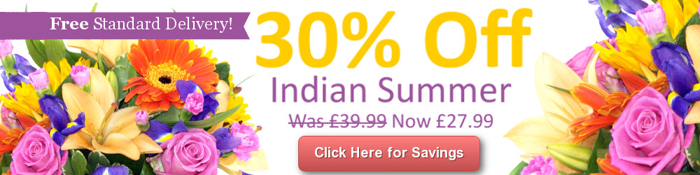 Save 30% on the Indian Summer Bouquet