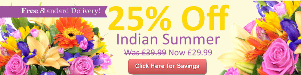 Save 25% On Indian Summer