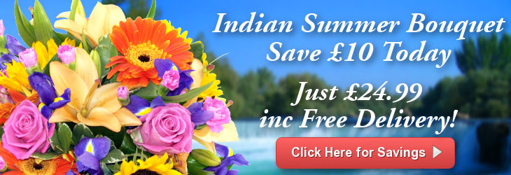 Save £10 on our Indian Summer BOuquet