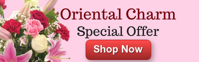 Save on the beautiful Oriental Charm bouquet