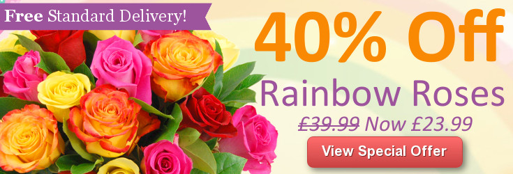 View Rainbow Roses - Now with 40% off!