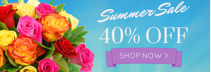 Save 40% in the Clare Florist Summer Sale