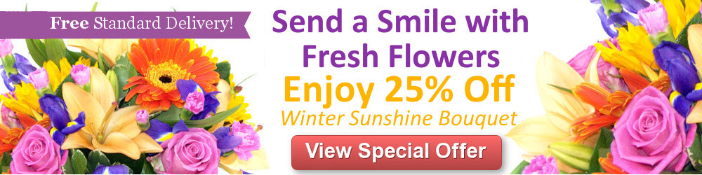 Save 30% on the Winter Sunshine Bouquet