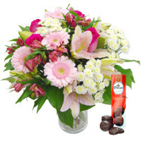 Cottage Garden Flowers with Free Chocolates
