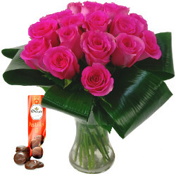 Grace Pink Roses with Free Chocolates