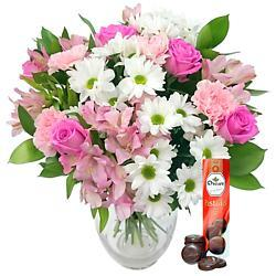 Precious Pink Bouquet with Free Chocolates