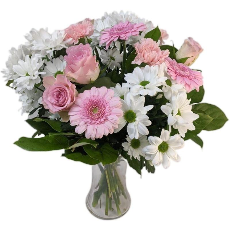 Precious Pink & White Bouquet - Birthday