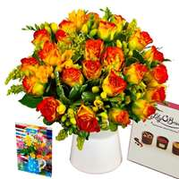 Rose and Freesia Gift Set