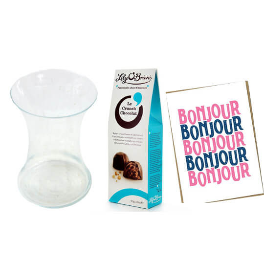 Gift Set (+ Chocs, Card & Vase)