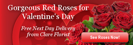 Valentines Day Flowers from Clare Florist